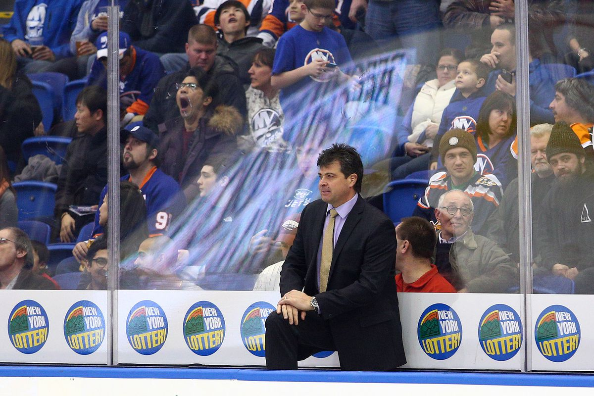 Jack Capuano of the New York Islanders surely must be paying attention about that other NY team catching up. No, not the Sabres.