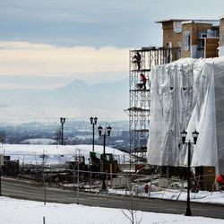 Construction on condominiums continues in Daybreak on Friday, Feb. 3, 2017. According to the 2017 Salt Lake Housing Forecast report released on Friday by the Salt Lake Board of Realtors, the Salt Lake County real estate market in 2016 had its best year in a decade.