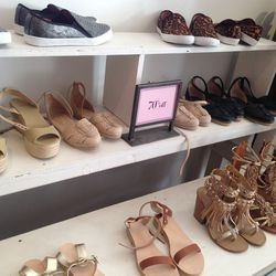 Leather sandals, flats, heels, and espadrilles starting at $30