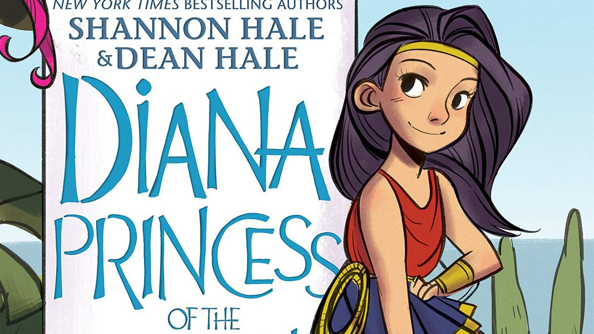 A young Wonder Woman on the cover of Diana, Princess of the Amazons, a YA graphic novel from DC Comics (2020).