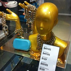 This turquoise clutch sold out almost instantly