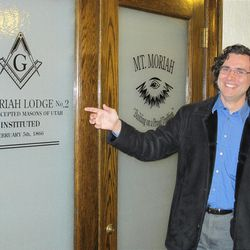Tour guide James Wilson is a master Mason and a member of the Mt. Moriah Lodge. (Lee Benson/Deseret News)