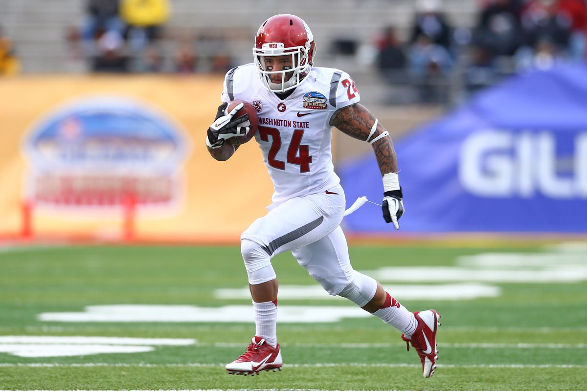 Theron West runs for a nice gain in the New Mexico Bowl.
