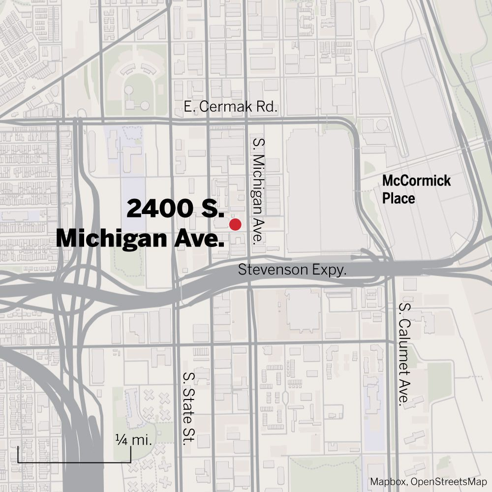 Map of 2400 S. Michigan Ave.