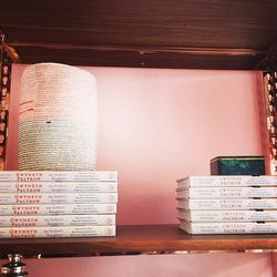Stacks of Paltrow's authored books litter the store.