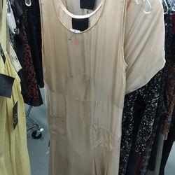 Nude silk dress, $125