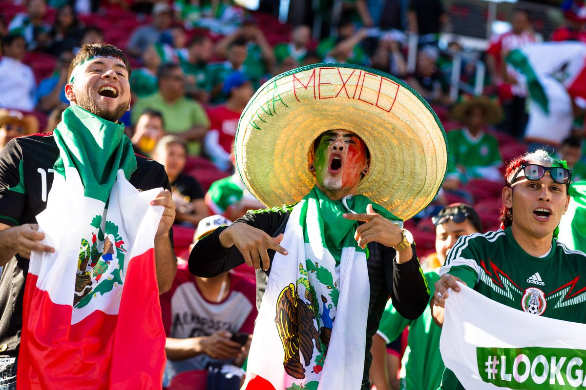Mexican fans during Saturday's match against Chile.
