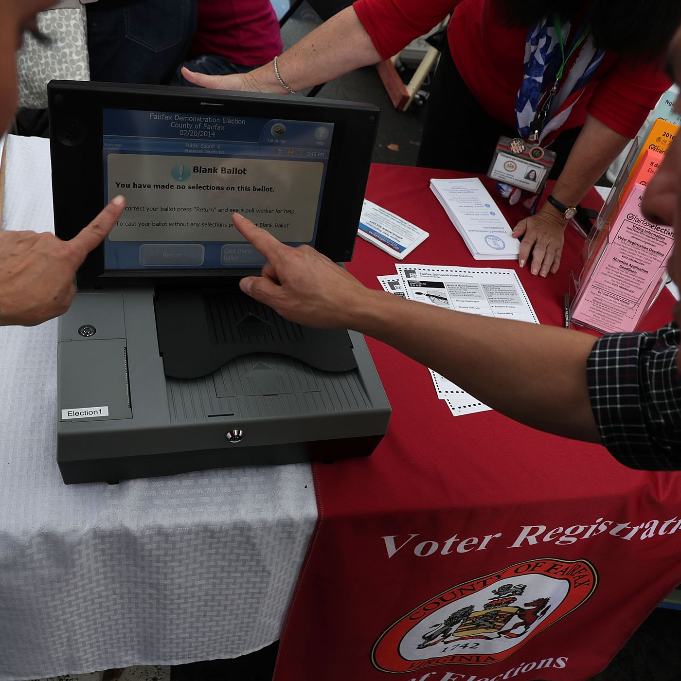 Virginia is replacing some of its electronic voting machines