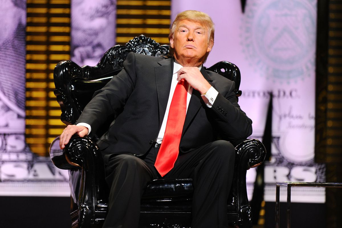Donald Trump looks very comfortable at his roast.