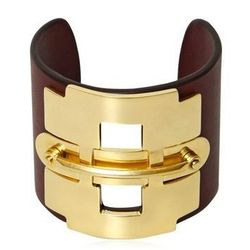 Tod's Leather and metal horse bit bracelet, $665, Tod's at the Forum Shops at Caesars