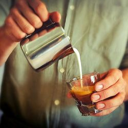 Cappuccino Pour by Charles Babinski at G&B Coffee, R. E.