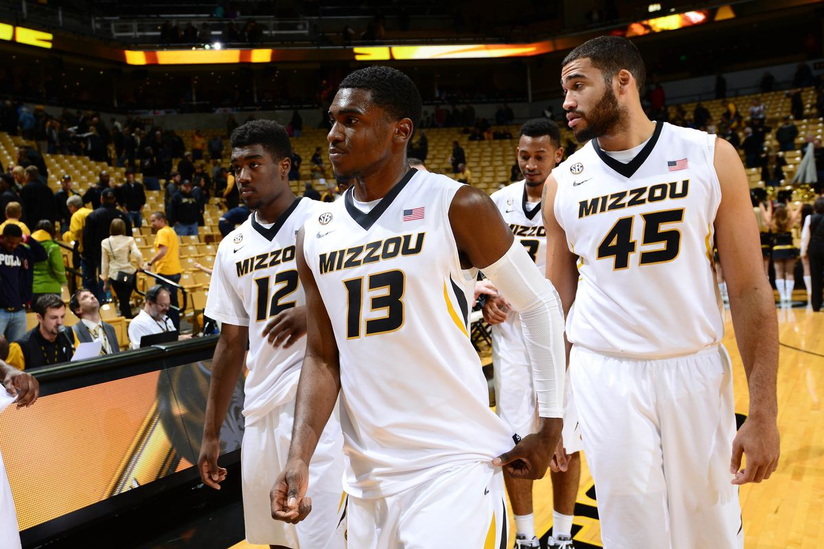 Montaque Gill-Caesar leads the way in this photo and on the floor for Missouri