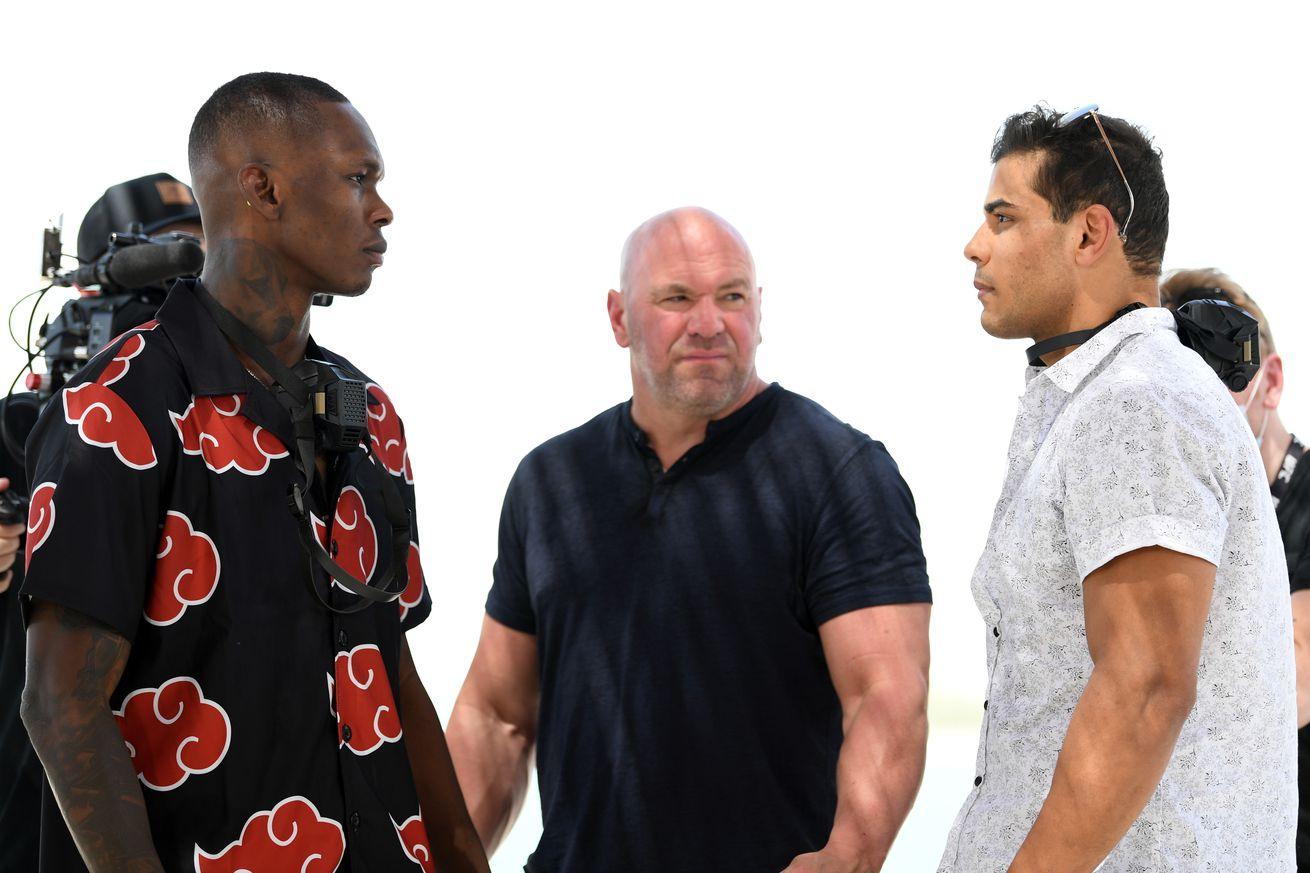 <label><a href='https://www.mvpboxing.com/news/mma/53187/UFC-253-video-Israel-Adesanya-vs-Paulo-Costa-stare' class='headline_anchor'>UFC 253 video: Israel Adesanya vs. Paulo Costa staredown</a></label><br />Watch Israel Adesanya and Paulo Costa face off ahead of UFC 253. There was no pushing and shoving