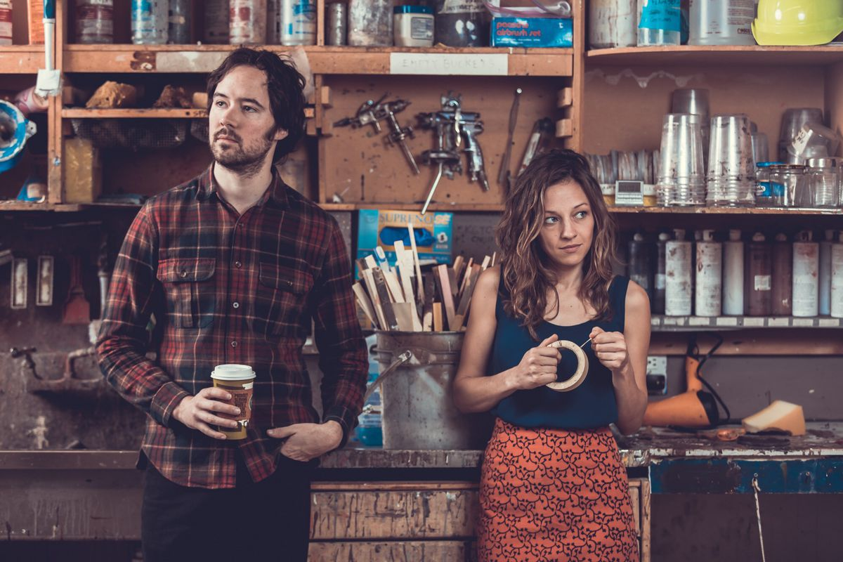 Rising americana duo mandolin orange on songwriting the south andrew marlin and emily frantz of mandolin orange mandolin orange hexwebz Images