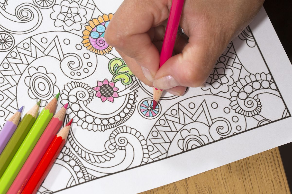 One of today's popular adult coloring books
