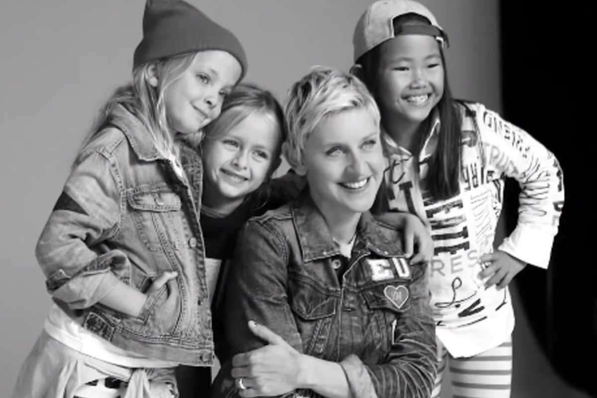 ellen degeneres partnered with gap kids for a clothing