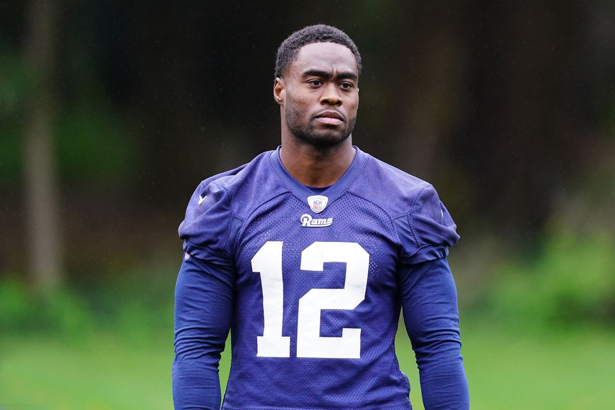 Los Angeles Rams wide receiver Brandin Cooks during practice at at The Grove.