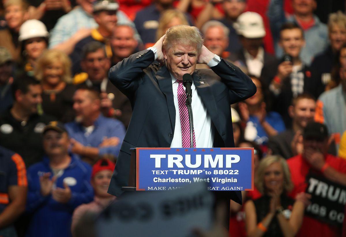 Donald Trump in West Virginia.