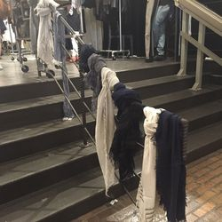 The staircase of scarves ($60)