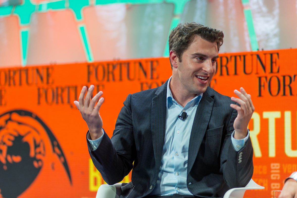 Brian Chesky, CEO of Airbnb, speaking at Fortune Brainstorm TECH 2016.