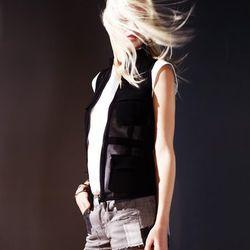 Leather trim denim shorts ($275).