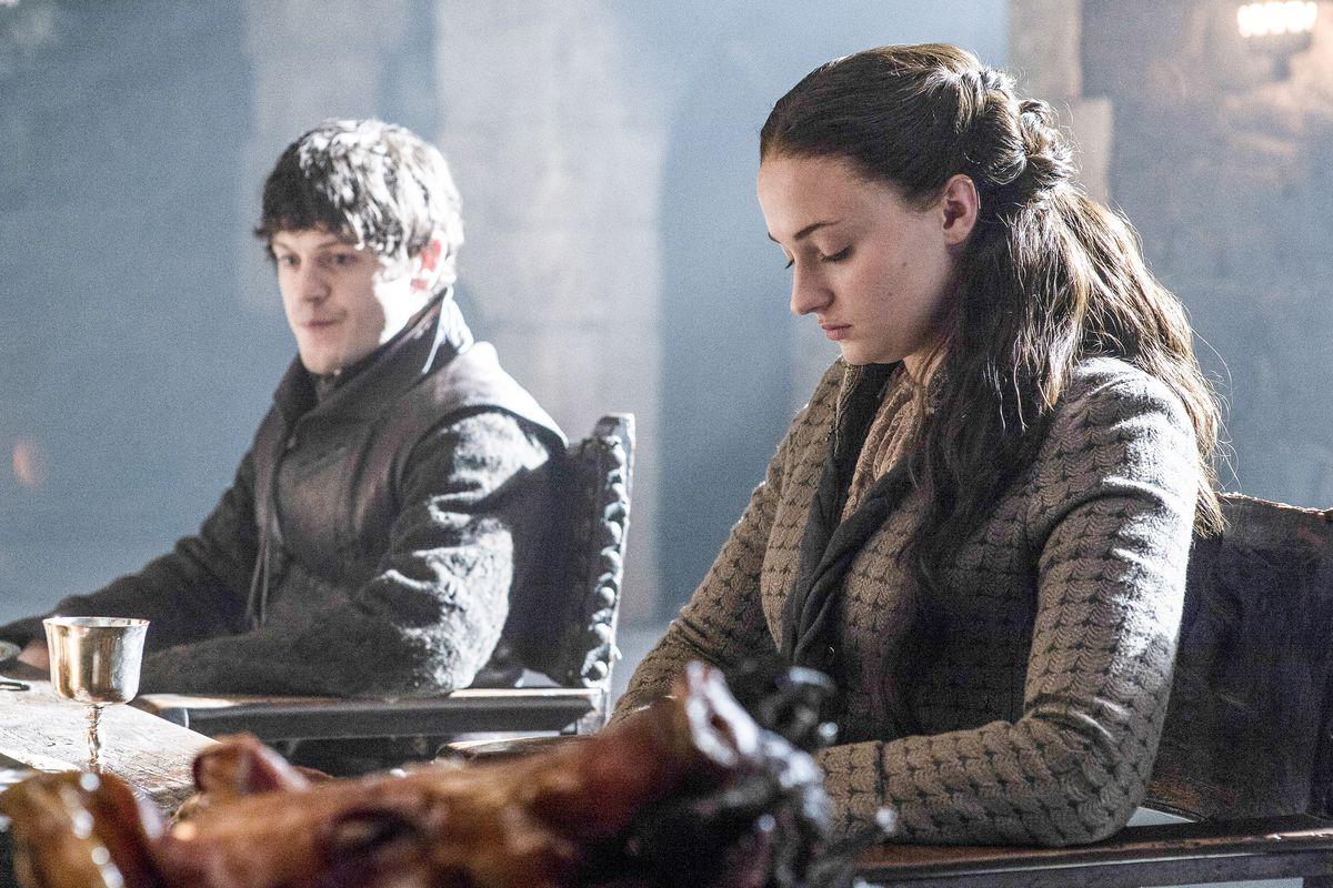 Ramsay Bolton and Sansa Stark.