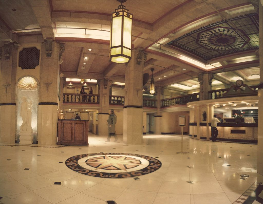 A photo of the lobby at the Stay on Main/Hotel Cecil.