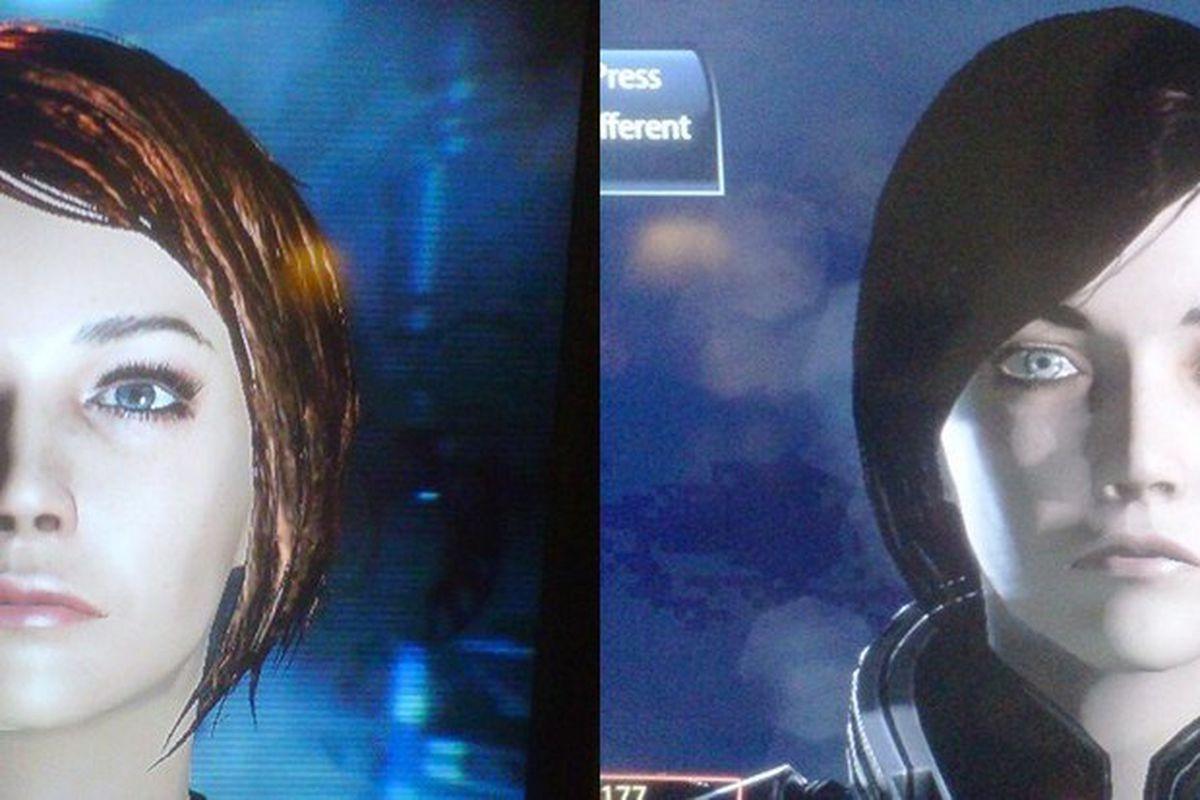 Mass Effect 3 face comparison
