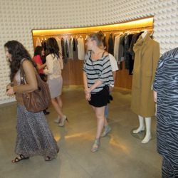 Strolling through Phillip Lim. Dang, too bad we didn't get a better shot of what the guy at the far right was wearing.