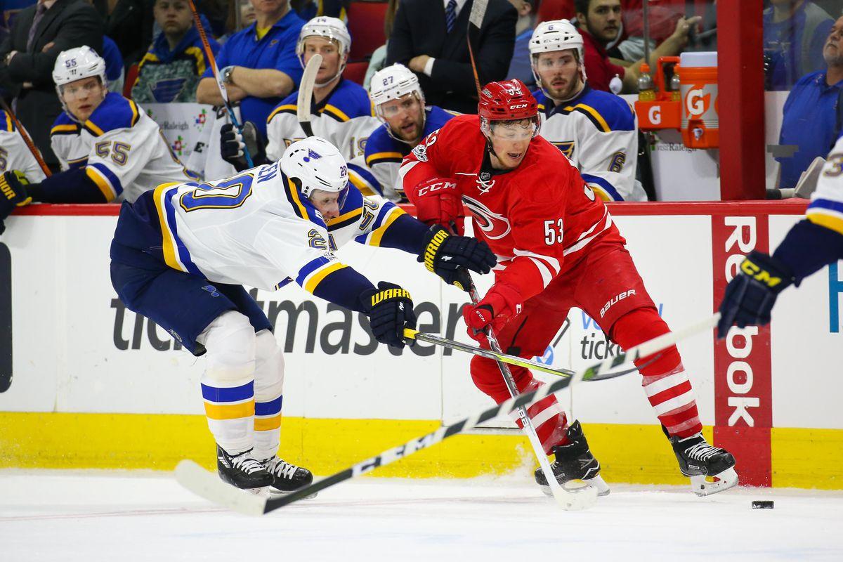 NHL: St. Louis Blues at Carolina Hurricanes