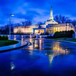 Scott Jarvie is on a mission to capture and compile pictures of every LDS temple in the United States. The St. Paul Minnesota Temple is pictured here.