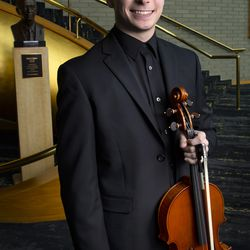 2019 Salute to Youth performer Mathew Lee in Abravanel Hall in Salt Lake City on Friday, Aug. 9, 2019.