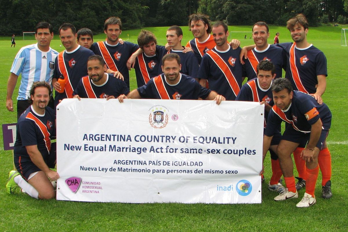 An Argentina team during the 2010 Gay Games.