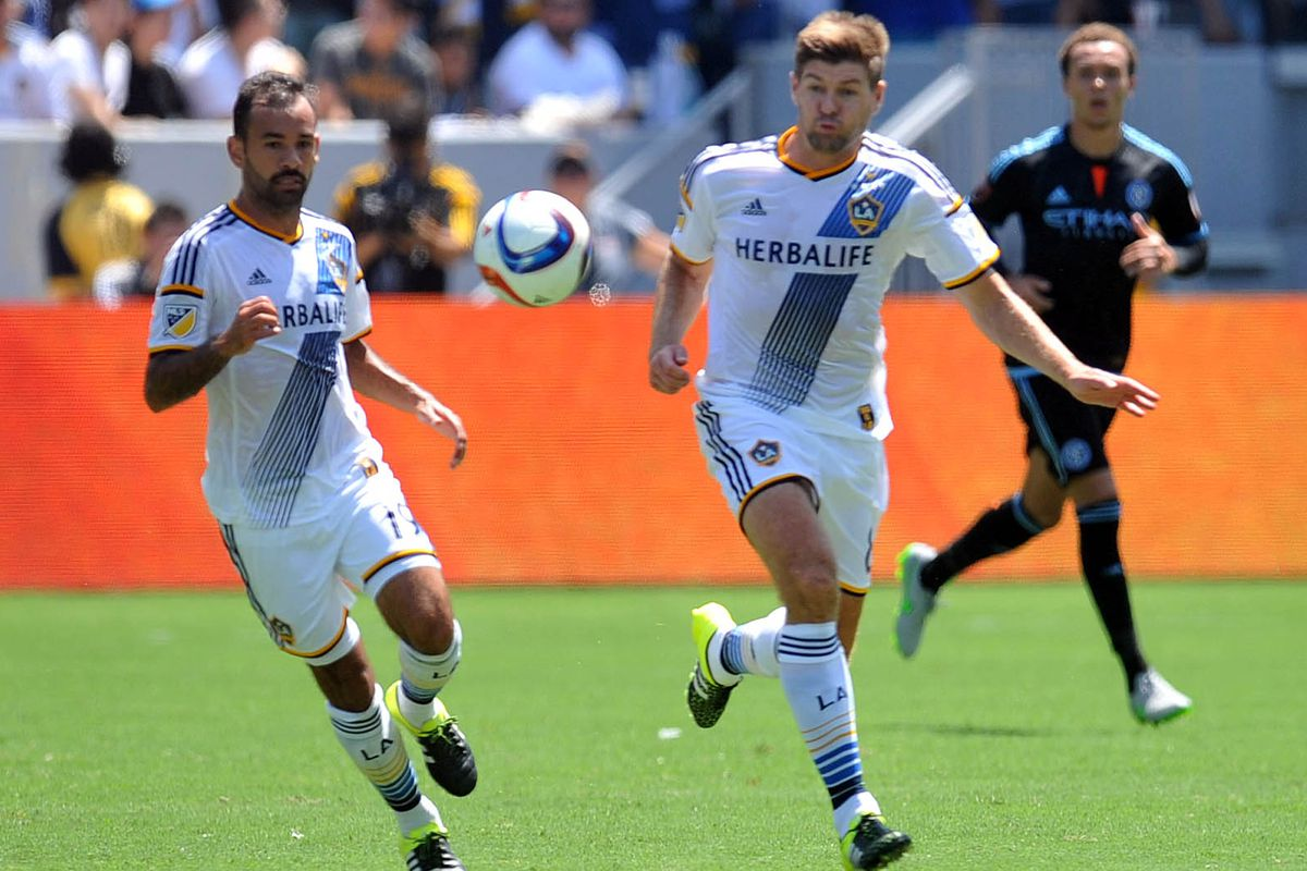 Juninho and Steven Gerrard did a great job controlling the midfield in LA's 5-1 victory over New York City FC