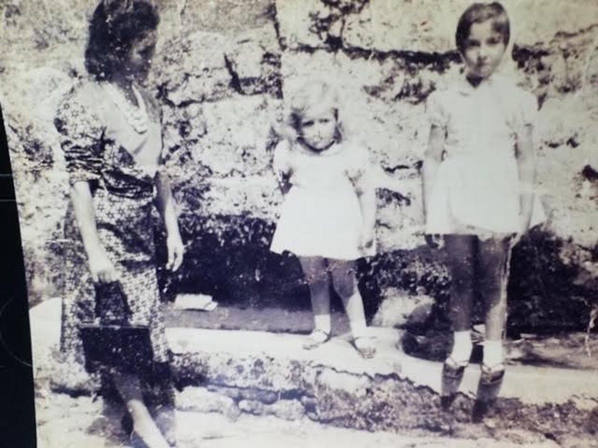 Emilia Pontarelli with her daughters Anna and Maria in her Italian hometown of Rocchetta a Volturno.