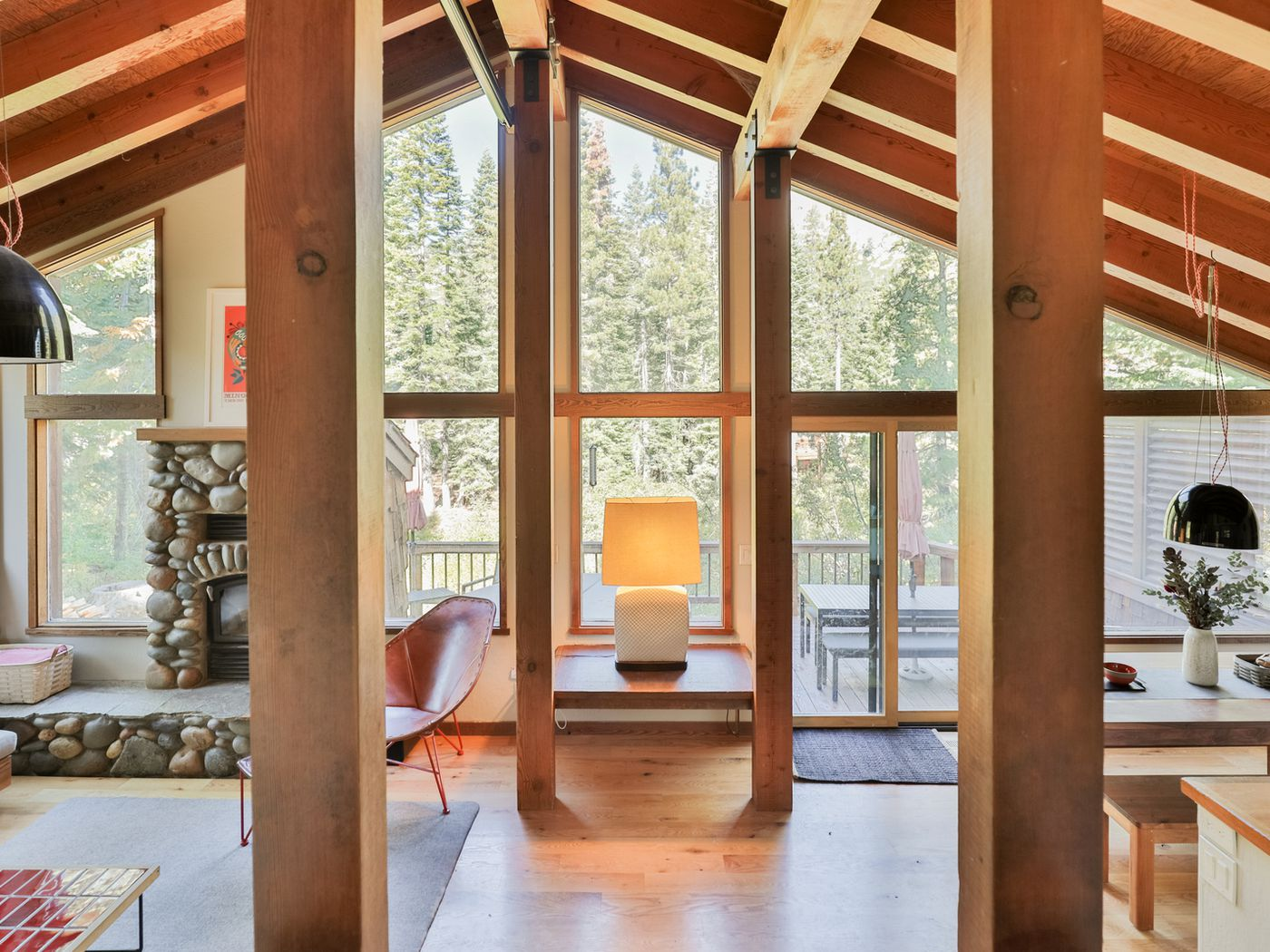 Lake Tahoe Cabin Decked Out In Heath Ceramics Style For Rent Curbed Sf