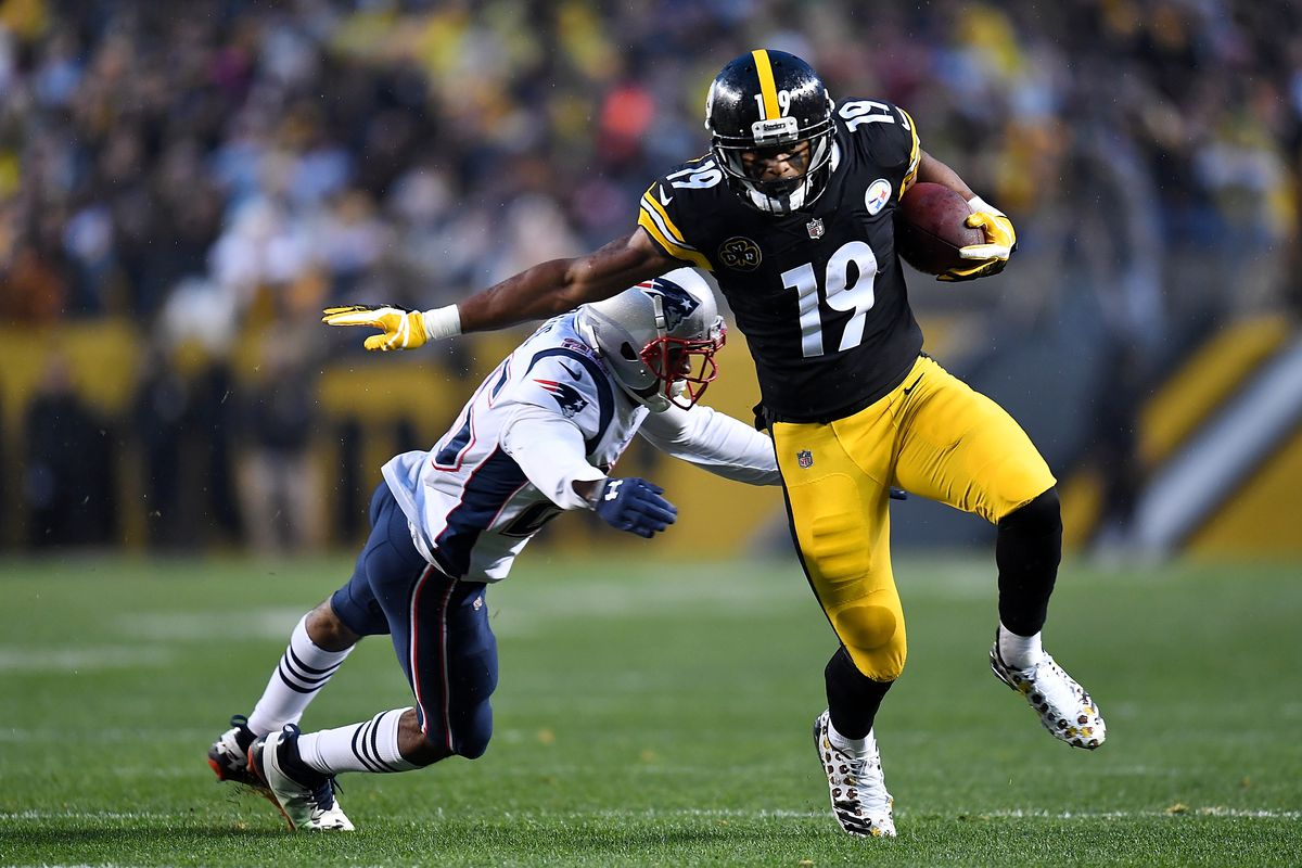 Image result for juju smith schuster vs pats