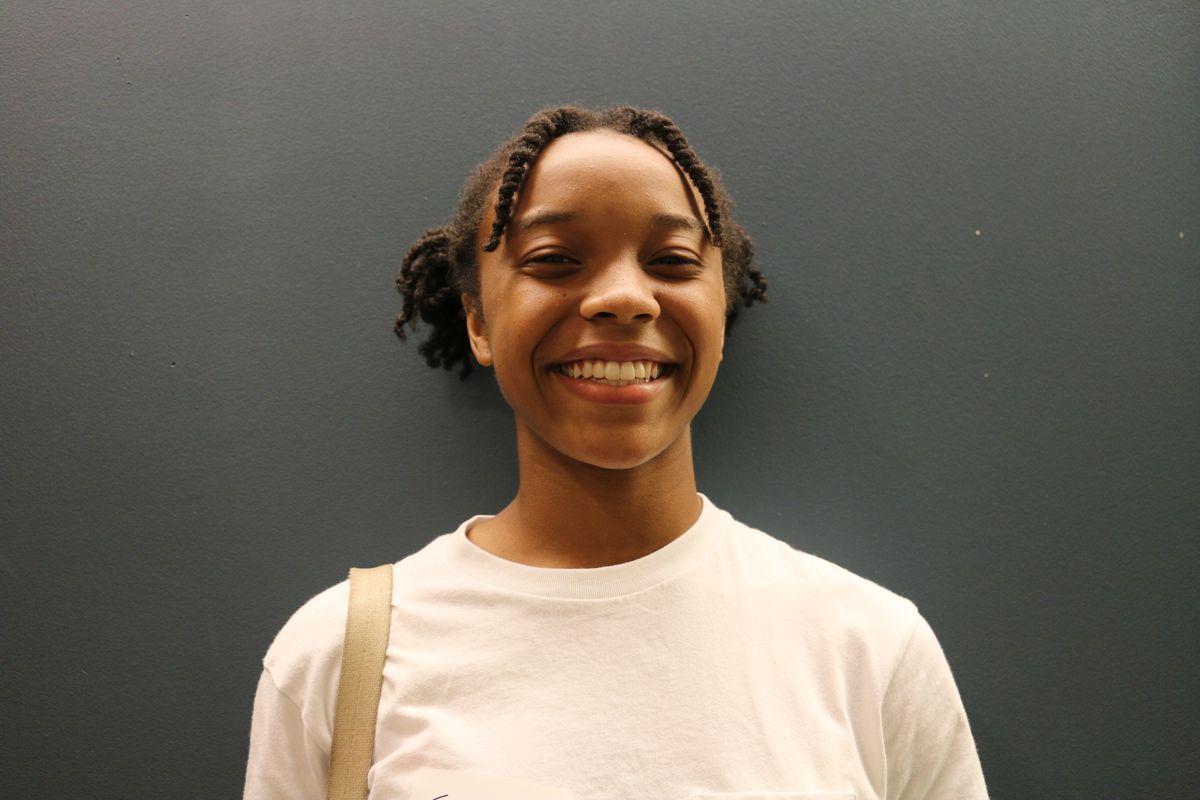 Faith Vieira, a rising senior at Brooklyn College Academy, is a member of YVote. Photo by Christina Veiga