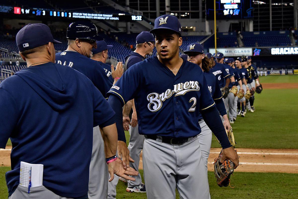 MLB: Milwaukee Brewers at Miami Marlins