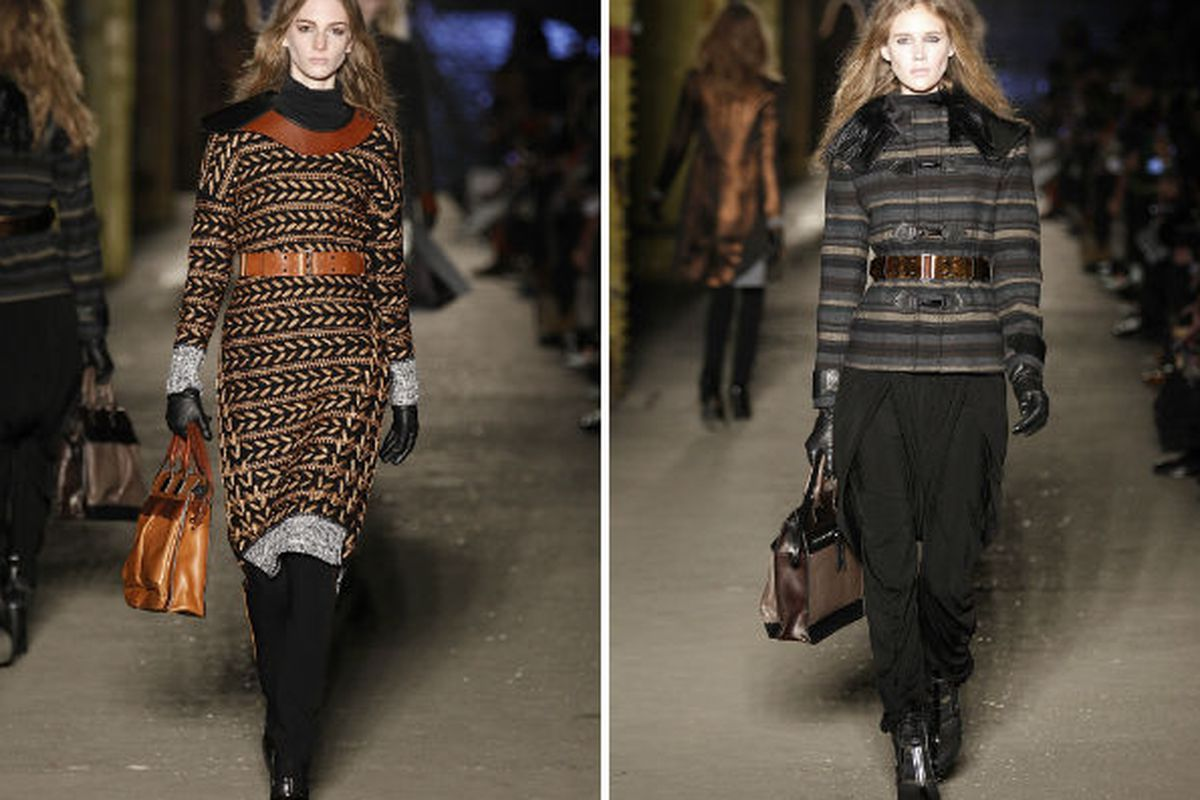 Two handbags from the Fall 2012 runway show, via Getty