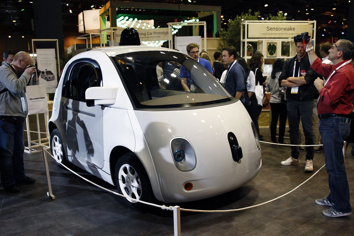 A Google/Waymo self-driving car
