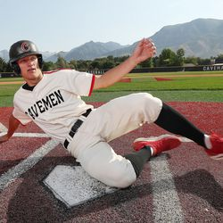American Fork's Fisher Ingersoll, this year's Deseret News Mr. Baseball, poses for photos in American Fork on Tuesday, June 15, 2021.