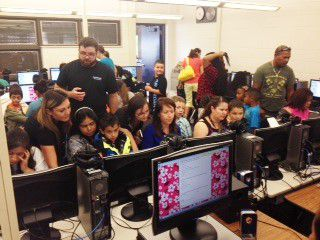 Parents at Thornton Elementary filled the computer lab during the school's recent back-to-school night.