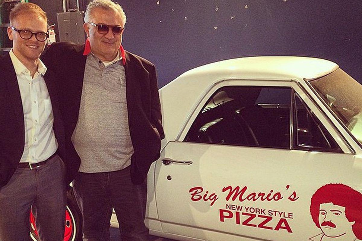 Big Mario's namesake Mario Vellotti (right)