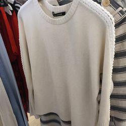Cashmere sweater with crochet braid, $305 (originally $695)