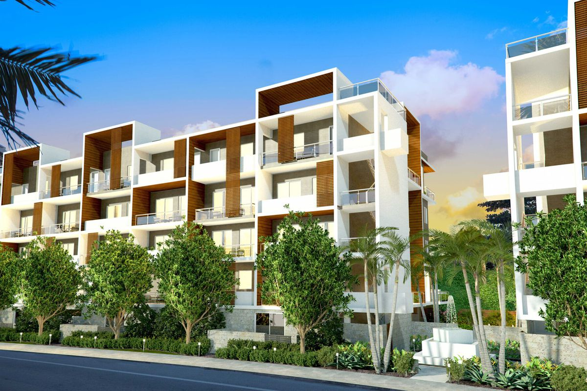 Rendering of boutique condo in fort lauderdale, townhome style