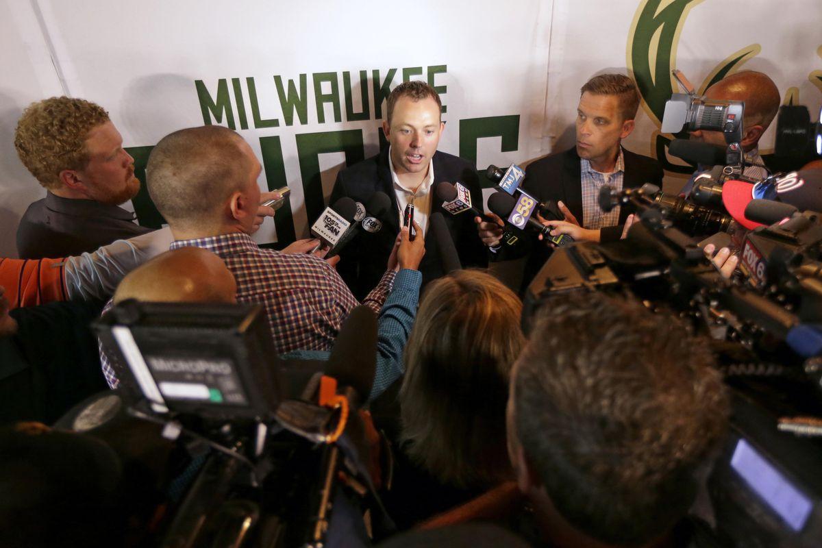 NBA: Milwaukee Bucks-Press Conference
