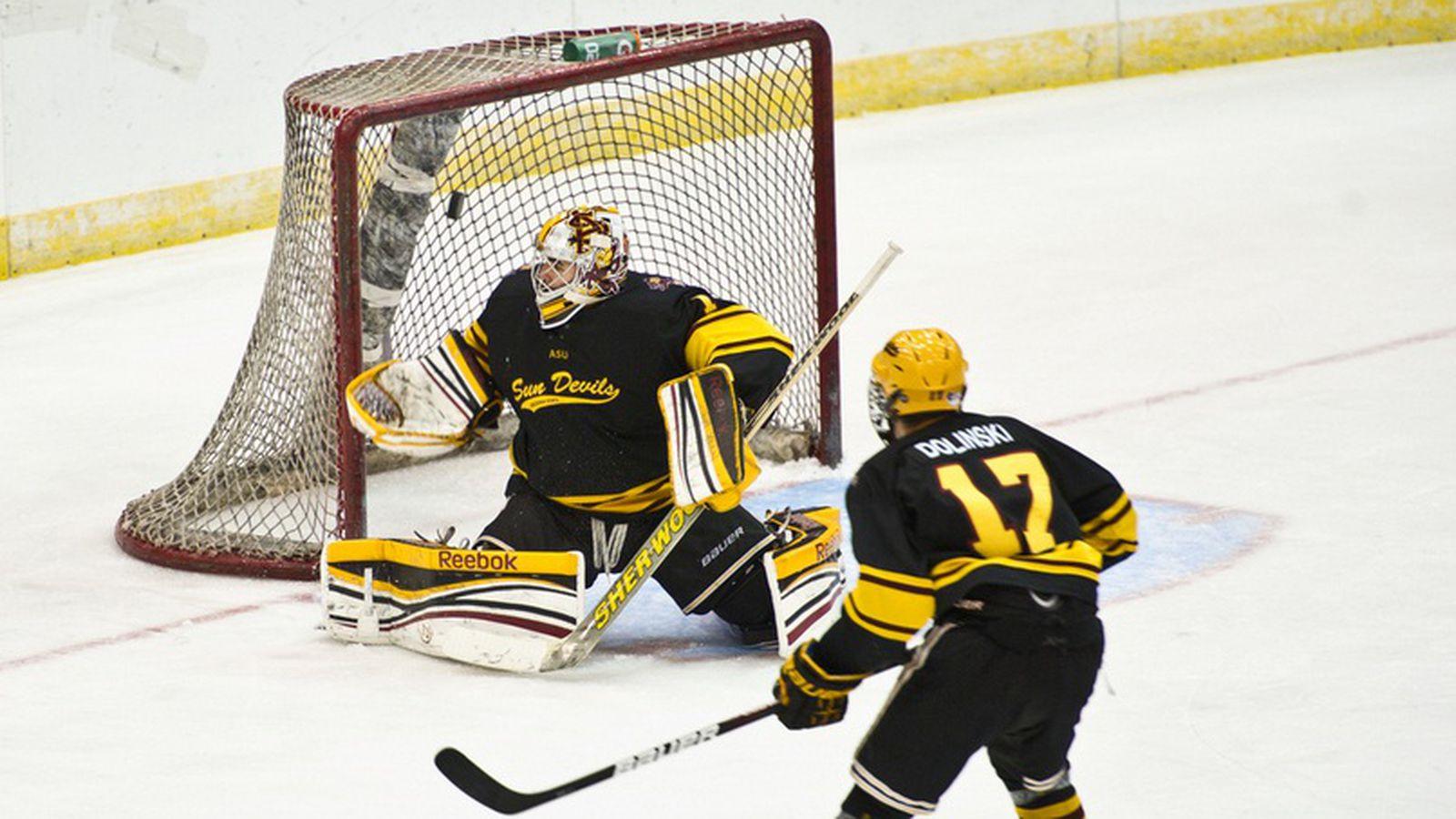 ASU Hockey Signs Elite Goaltender Robert Levin - House of Sparky