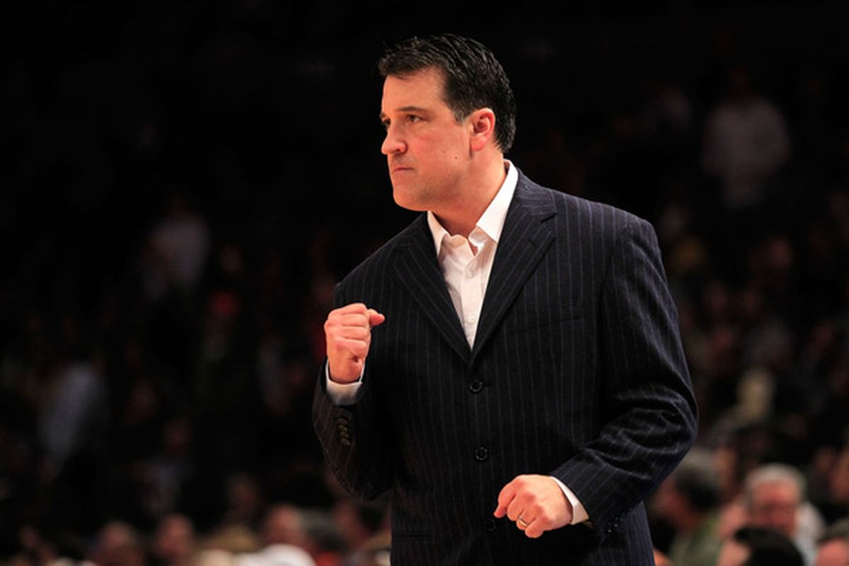 St. John's head coach Steve Lavin, who has been battling prostate cancer, will lead his team into this season's Coaches vs. Cancer Classic at Madison Square Garden.  (Photo by Chris Trotman/Getty Images)