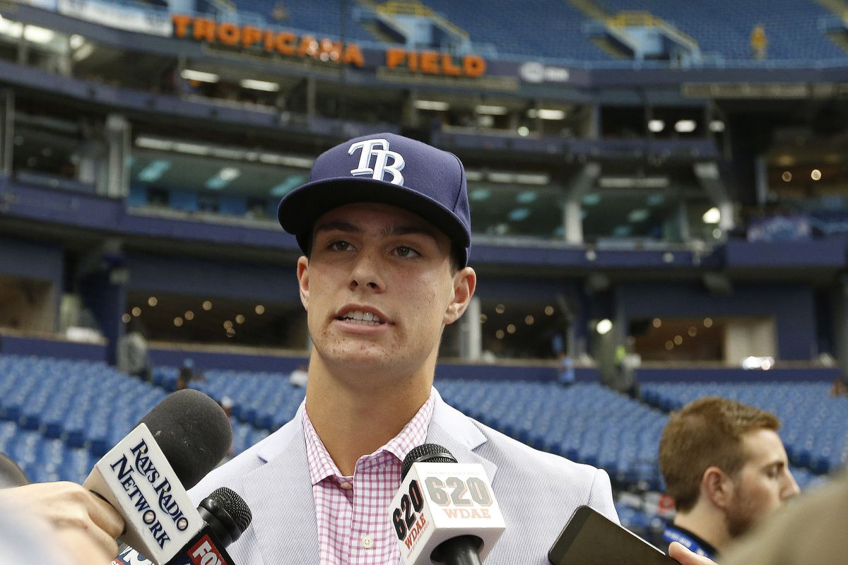Tampa Bay Rays first round pick 3B Josh Lowe who signed for $2,600,000.